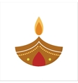 diwali candle vector image