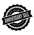 anniversary sale rubber stamp vector image