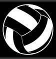 volleyball ball white color icon vector image