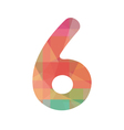 Colorful number six vector image