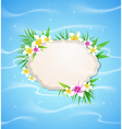 Summer blue marine background vector image