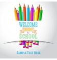 Welcome back to school hand-drawn greeting with vector image