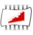 3D of business chart vector image