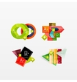 Set of modern geometric infographic web layouts vector image vector image