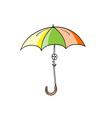 simple of umbrella vector image vector image