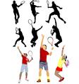6120 tennis set vector image