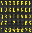set of letters on a mechanical timetable vector image vector image