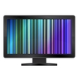 Neon LCD Monitor vector image