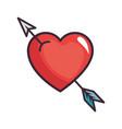 cute arrow heart vector image