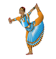 Indian dancer stands vector image