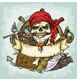 Pirate Skull logo design vector image