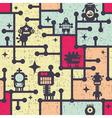 Robot wallpaper vector image