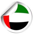 Sticker design for flag of arab emirates vector image