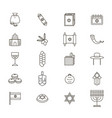 symbol of israel thin line icon set vector image