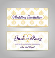 vintage arabic style pattern wedding invitation vector image
