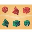 Holes in figures vector image