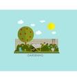 Gardening Flat Background vector image