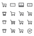 Set of Outline stroke Shopping icons vector image