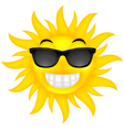 happy summer sun with glasses vector image vector image
