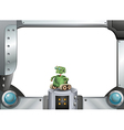 A robot and the metallic frame vector image vector image