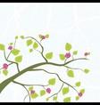 spring branch vector image vector image