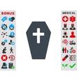 Coffin Icon vector image