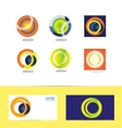 Corporate business circle logo vector image