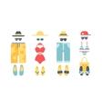 Beach swimwear clothing vector image