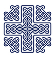 celtic knot cross vector image