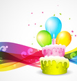 beautiful background of birthday vector image