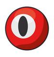 billiard ball isolated icon vector image