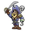 cartoon of pirate vector image