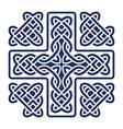 celtic knot cross vector image