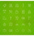 Family Camping Line Icons vector image