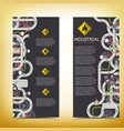 industrial manufacturing vertical banners vector image