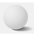 isolated golf ball on transparency grid - vector image