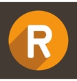 Letter R Logo Flat Icon Style vector image