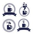 office tea cup label set vector image
