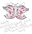 ornamental butterfly vector image