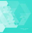 torquoise color abstract geometric background vector image
