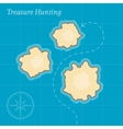 Treasure Map Background vector image