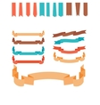 Flat style ribbons set vector image