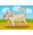 Running sheepdog dog cartoon vector image
