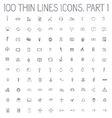 part 1 of collection thin lines pictogram icon vector image