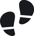 Footsteps resize vector image