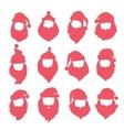 Portrait Santa Claus coloreful face icons vector image
