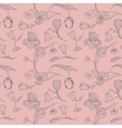 vintage seamless pattern with flowers vector image