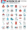 kitchen tools ultra modern outline artline vector image