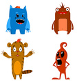 Set of the aliens characters vector image