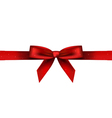 red shiny bow vector image vector image